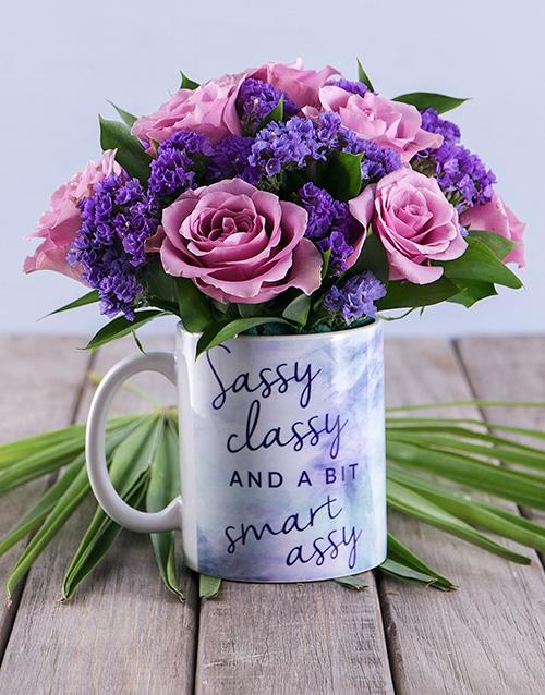 secretarys-day: Sassy Classy Floral Mug Arrangement!