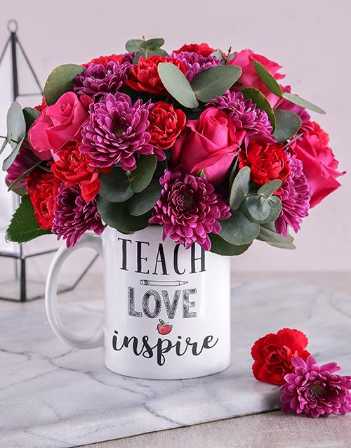 flowers: Teach and Inspire Floral Mug!