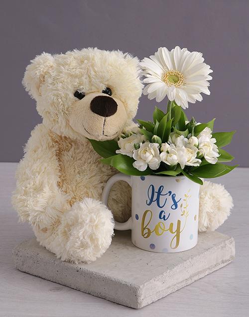 mugs: Its a Boy Daisy in a Mug!
