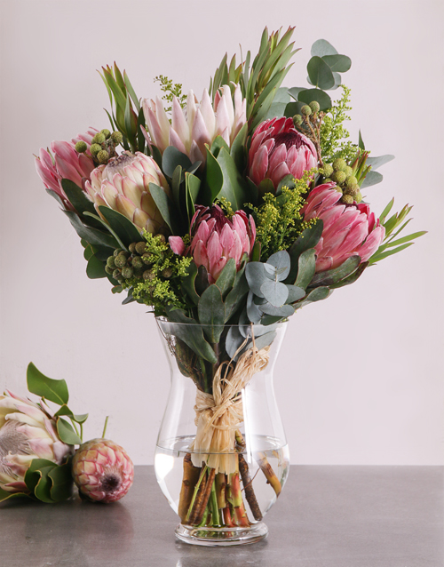 colour: Rustic Protea Arrangement!