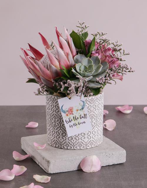 secretarys-day: Inspiring Protea Arrangement!