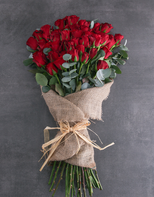 bouquets: Fifty Layered Red Roses!