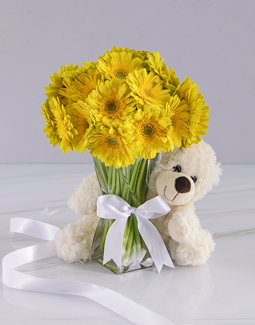 colour: Yellow Gerbera Array!