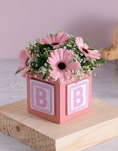 baby: Baby Girl Building Block Arrangement!