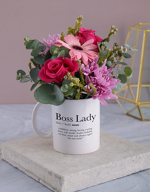 flowers: Cerise Boss Lady Floral Mug!