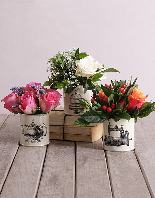 easter: Roses in Classic Tins!