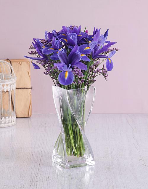 colour: Glass Twist Iris Arrangement!