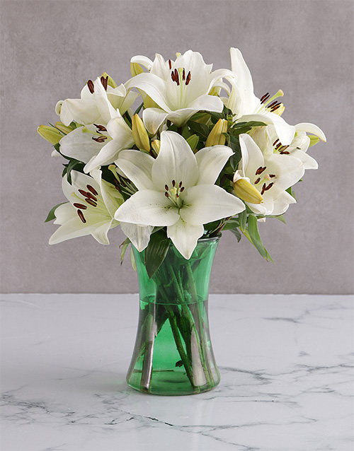 colour: Angel White Lily Blossoms!