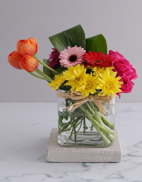 tulips: Summer Delight Tulip Arrangement!