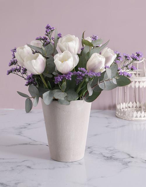 tulips: Stunning White Tulip Delights!