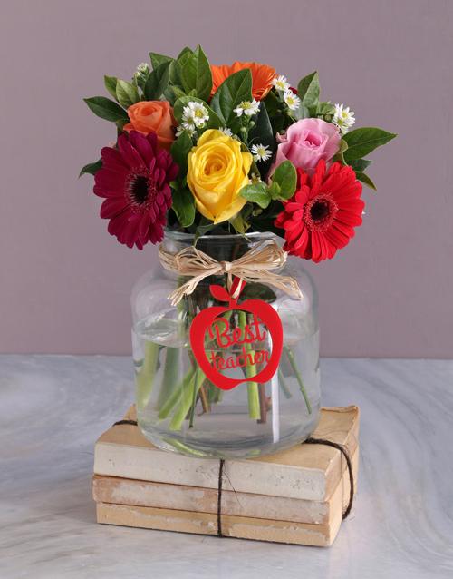 vase: Best Teacher Flower Vase!