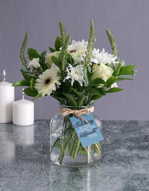 sympathy: Thinking Of You Flower Arrangement!