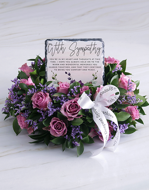 sympathy: Purity Sympathy Wreath!