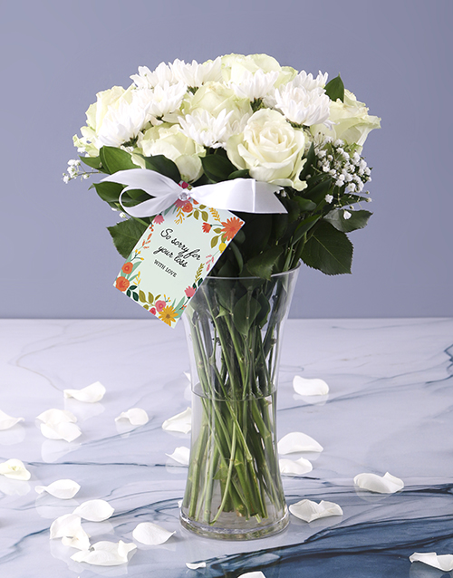 colour: White Vase Of Sympathy!
