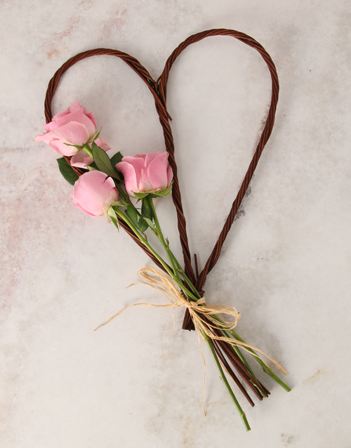 wooden-crates: Pink Heart Bouquet!