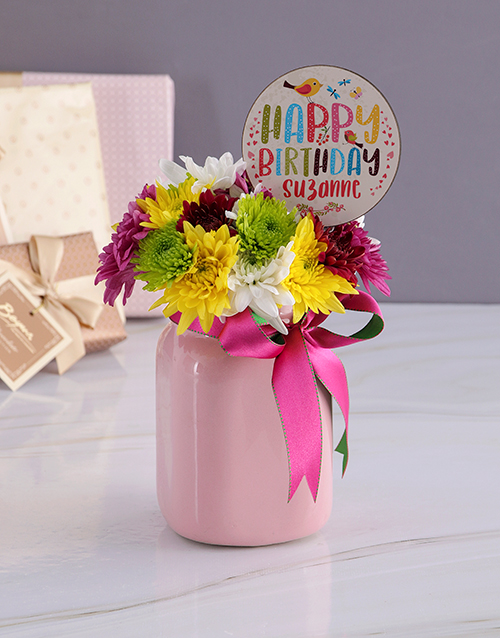 colour: Personalised Happy Birthday Spray Jar!