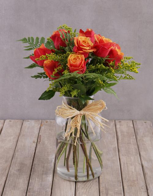 speciality: Charming Cherry Brandy Rose Arrangement!