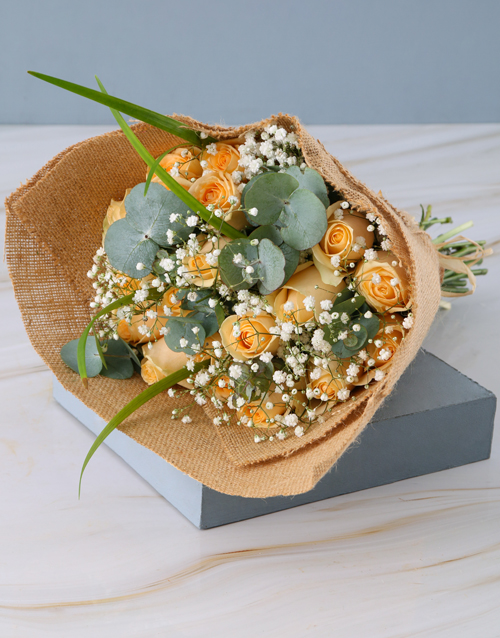 colour: Rustic Peach Rose Bouquet!