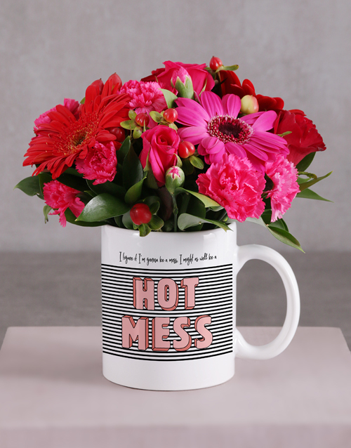 colour: Hot Mess Flower Mug!