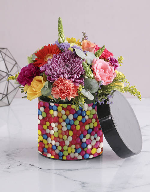 colour: Sweetie Florals in Black Hatbox!