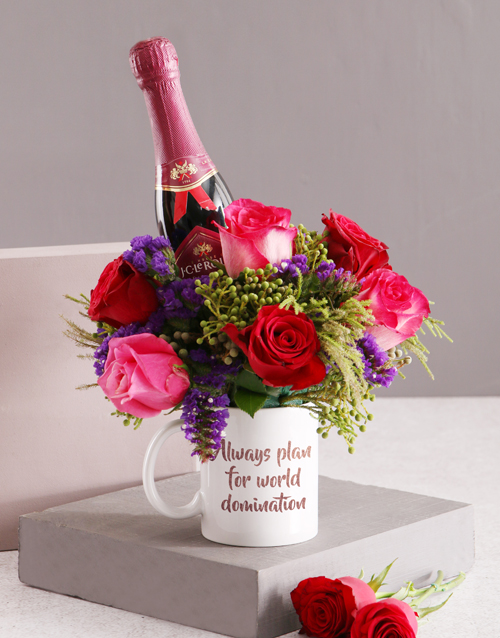 colour: World Domination Floral Mug!