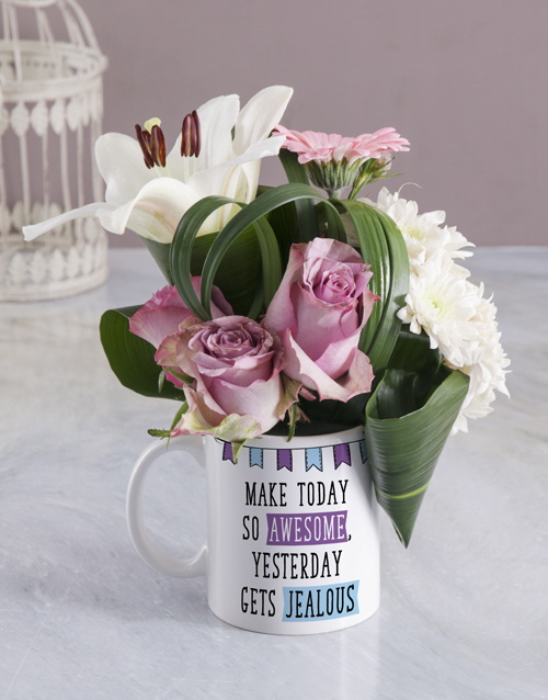 mugs: Awesome Floral Mug!