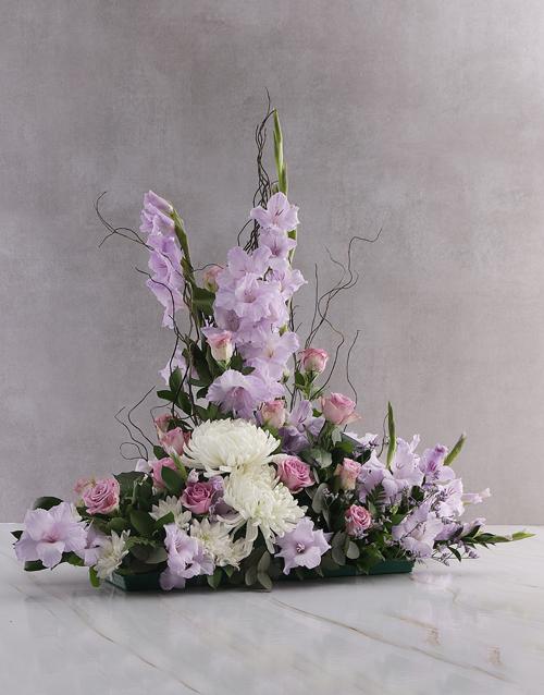 anniversary: Purple Gladioli High Design Ikebana Arrangement!