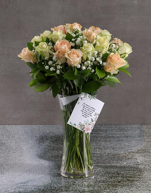 sympathy: Mixed Sympathy Roses In Flair Vase!