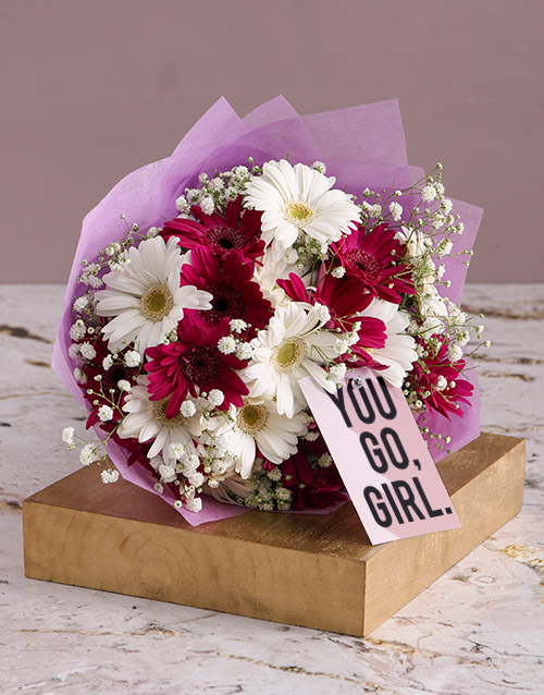flowers: You Go Girl Gerbera Bouquet!