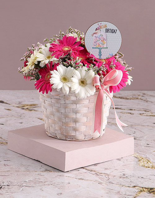 birthday: Basket of Birthday Gerberas!