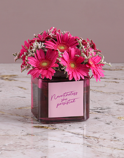 gerbera-daisies: Passionate Pink Gerbera Arrangement!