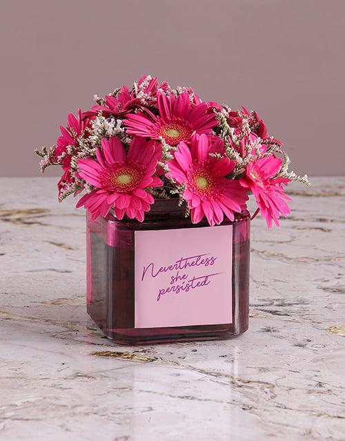 flowers: Passionate Pink Gerbera Arrangement!