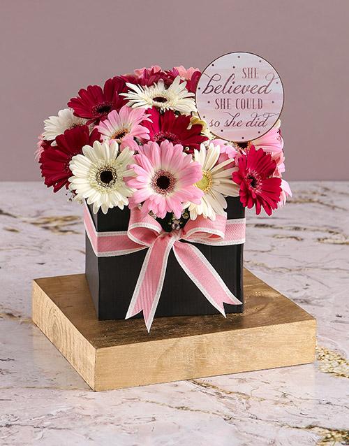 gerbera-daisies: Congratulatory Gerberas in Black Box!