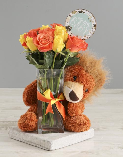 vase: Cute Little Baby Welcome Arrangement!