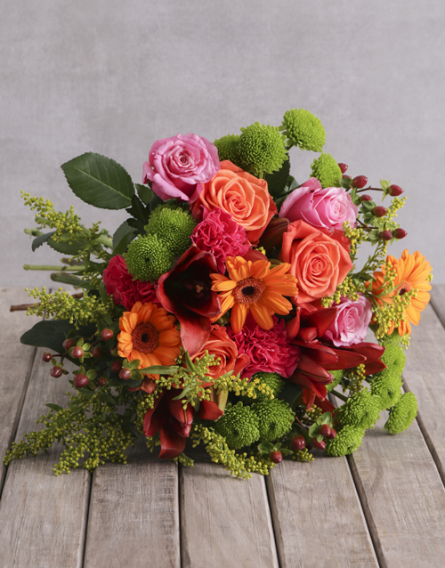 birthday: Mixed Colour Floral Delights!