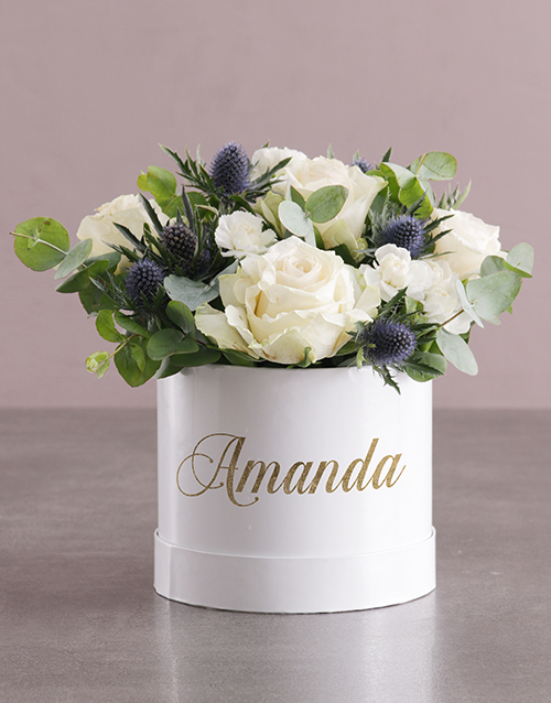 year-end: Personalised Special Mixed Flowers Hat Box!