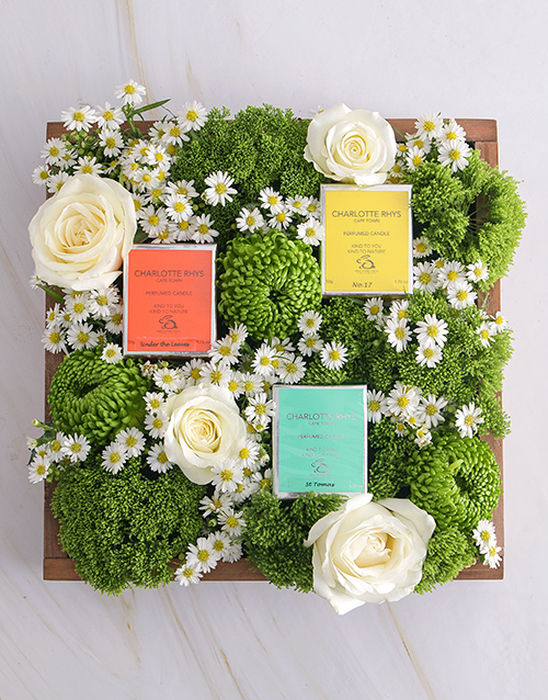 flowers: Mixed Flower Sensations In Wooden Crate!