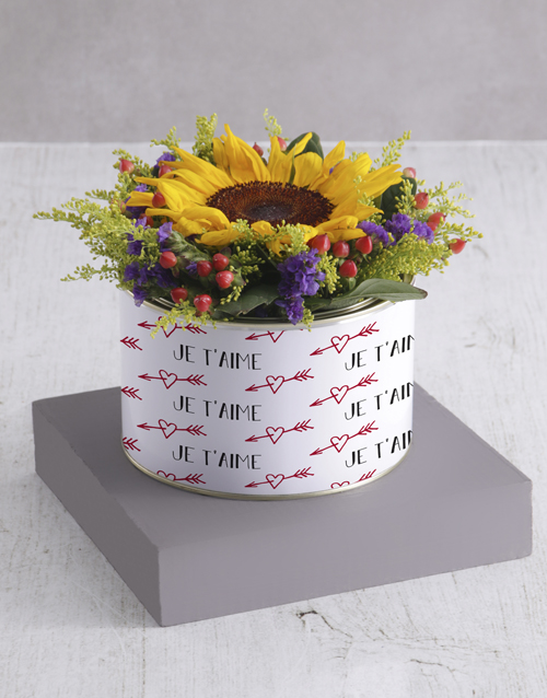 personalised: Sunshine Sunflower Tin!