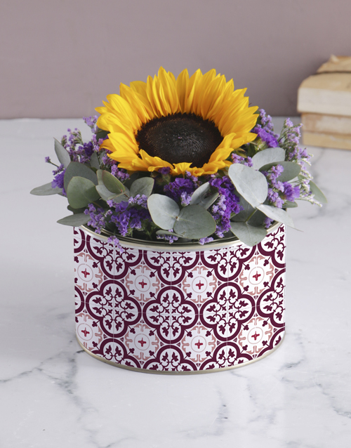 colour: Purple Sunflower Tin!