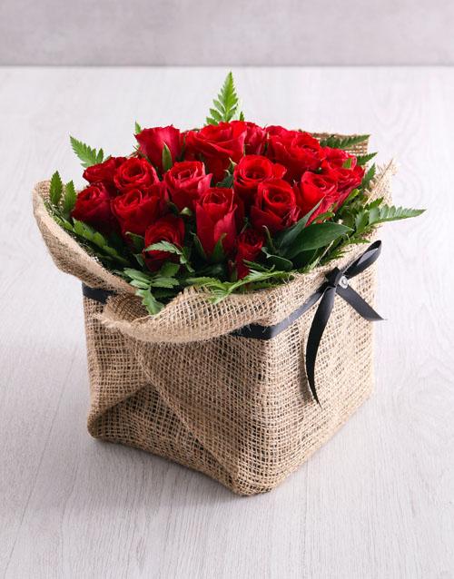 birthday: Romantic Red Rose Arrangement !