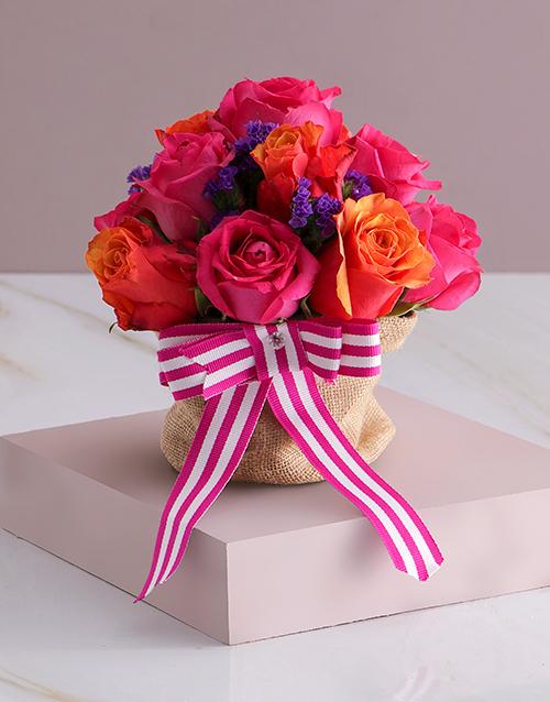 anniversary: Garden Rose Arrangement!