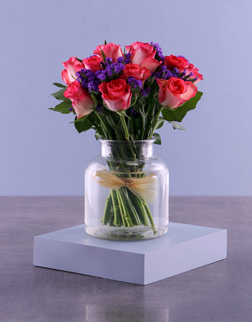 flowers: Have A Cerise Day Roses In Vase!