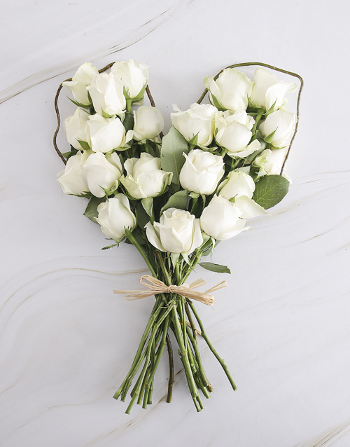 flowers: White Rose Sweetheart Bouquet!