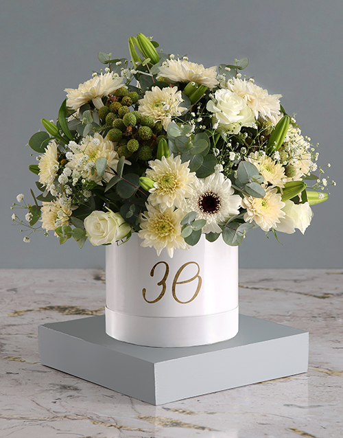 personalised: Personalised Mixed Flowers Hat Box Surprise!