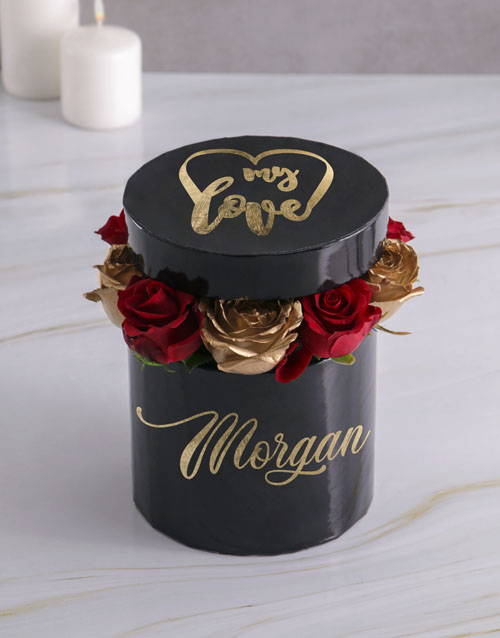 personalised: Personalised My Love Mixed Flowers Hat Box!