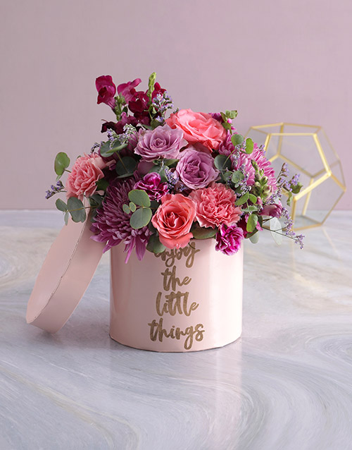 baby: Little Spoils Mixed Flowers Hat Box!