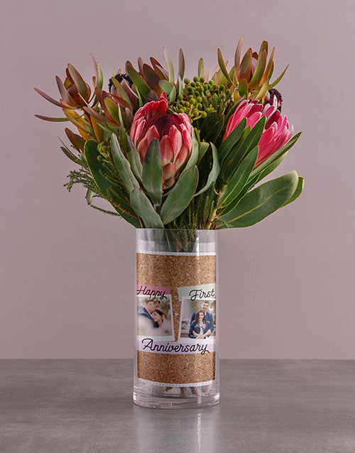 personalised: Anniversary Protea Blossoms!