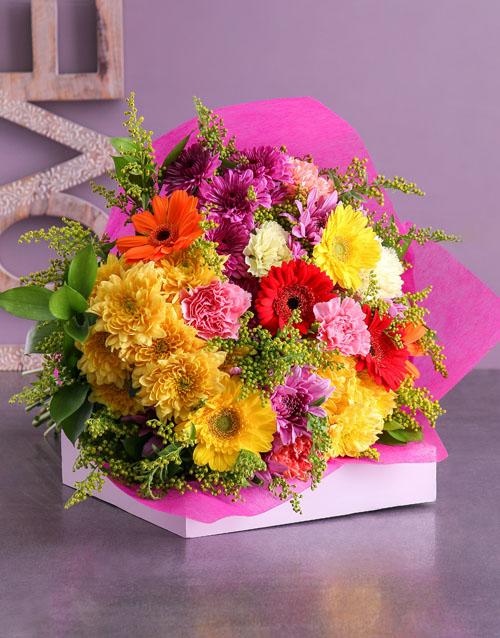 mixed: World Of Colour Flower Bouquet!
