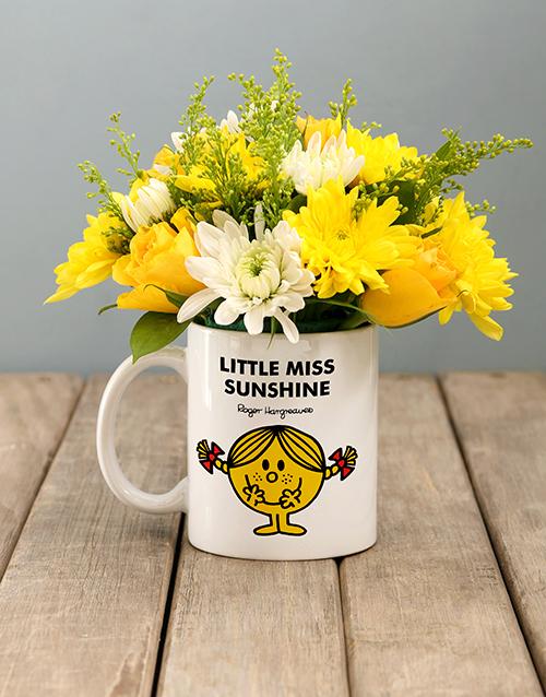 colour: Little Miss Sunshine Flowers In Mug!