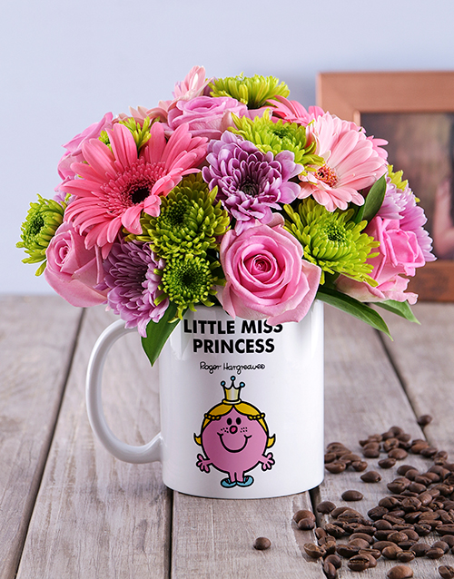 engagement: Little Miss Princess Flowers In Mug!